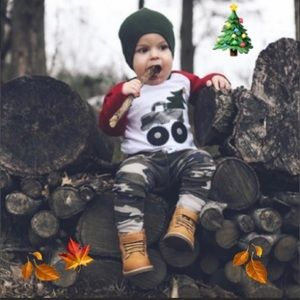 Other - BOYS 2 PIECE CHRISTMAS MATCHING OUTFIT